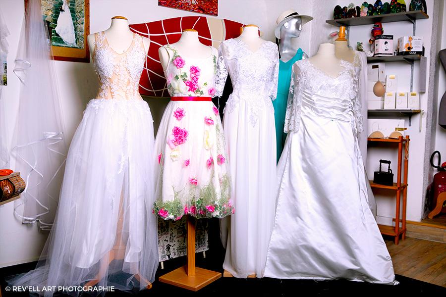 Création sur mesure de robes de mariage